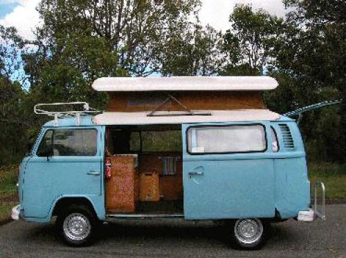 Used VOLKSWAGEN KOMBI for sale with Volkswagon Kombi Pop Top 1974, Light Blue, good condition, fully serviced and fully equipted. $5,250