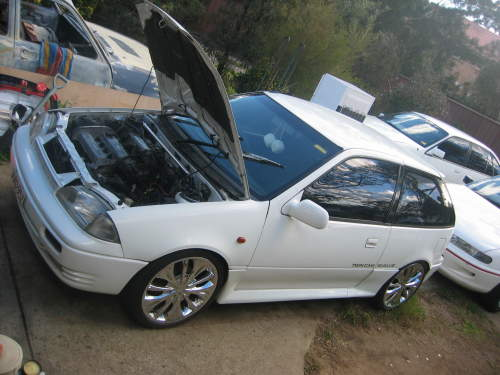 Used SUZUKI SWIFT GTI For Sale With Gti Twin Cam 13ltr White 1991No Rego Dec 2006Starts Drives No Leaks Problems Been Sitting 9mts 17inch Chrome