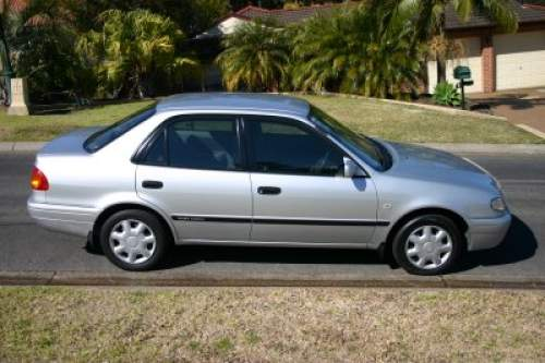 2000 used toyota corolla ae112r colours silver grey interior ascent sedan car sales newcastle. Black Bedroom Furniture Sets. Home Design Ideas