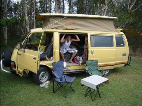 69056d0d21 Used TOYOTA HIACE CAMPERVAN MOD) for sale with good conditioned yellow  campervan with full camping equipement.  5