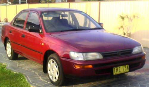 1995 used toyota corolla conquest sedan car sales cabramatta west nsw excellent 3 400. Black Bedroom Furniture Sets. Home Design Ideas