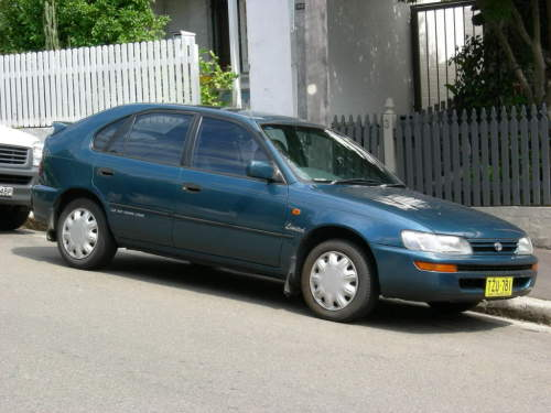 1995 used toyota corolla ae102x hatchback car sales glebe nsw very good 6 000. Black Bedroom Furniture Sets. Home Design Ideas